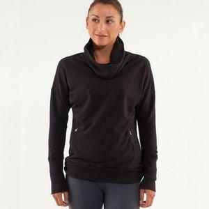 Lululemon Black Rest Day Pullover Sweatshirt Sz 4